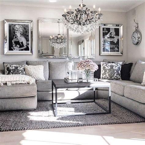 living room decor ideas glamorous chic  grey  pink