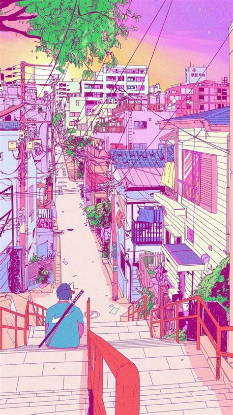 pin  danielle lo  iphone wallpaper anime scenery