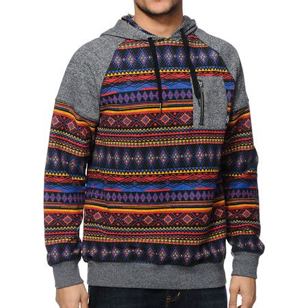 tribal pattern pullover hoodie empyre providence tribal pocket pullover hoodie at zumiez