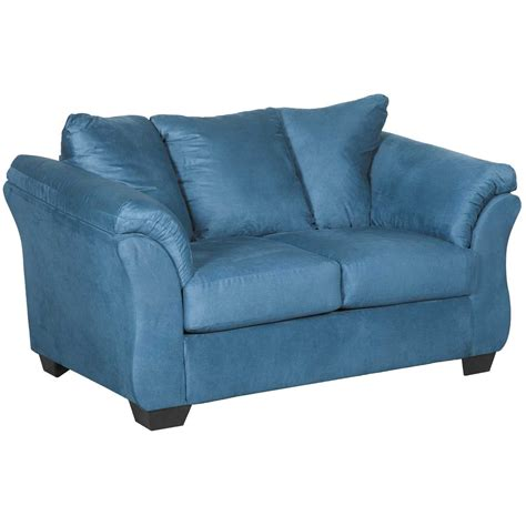 darcy sofa and loveseat darcy blue loveseat 7500735 furniture afw