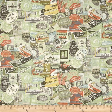 Fabric Quilt Labels Yard by Transportation Travel Fabric Fabric By The Yard Fabric