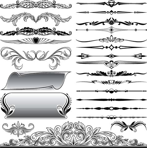 graphic design frame vector ornaments elements vector border graphic 01 over