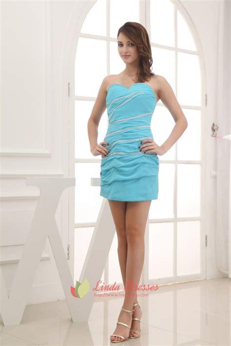 aqua blue dresses  juniorsblue strapless mini dress linda dress