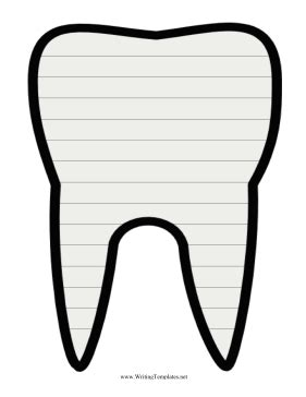 tooth templates free tooth writing template writing template