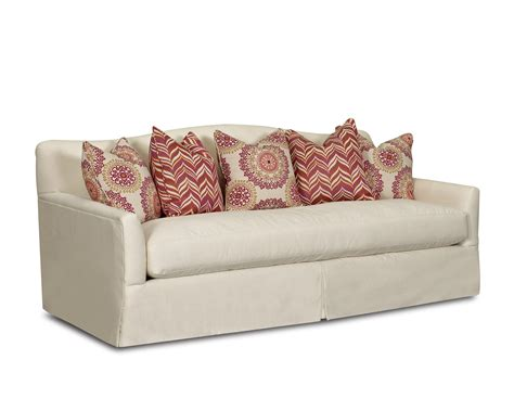 transitional stationary sofa with bench seat cushion