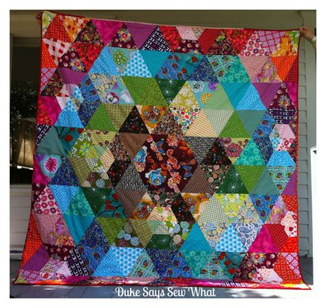 Patchwork Prism Quilt - duke says sew what finished prism patchwork quilt