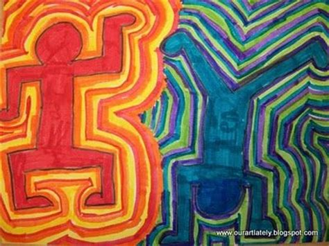 keith harring action figures class art project ideas