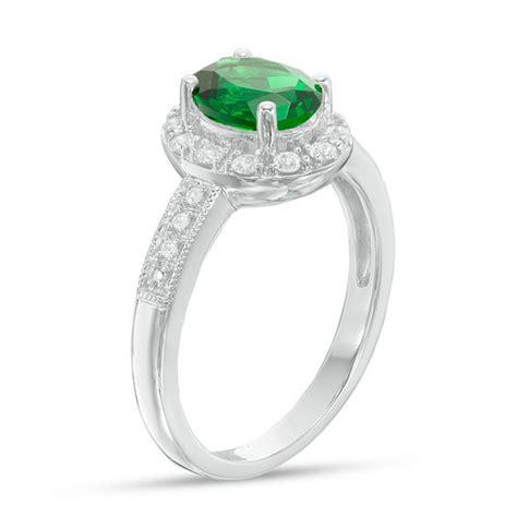 Green Quartz Memo Lab 1 oval lab created green quartz and white sapphire frame