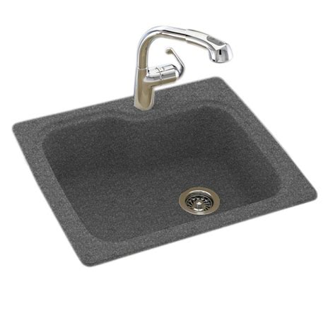 Swan Dual Mount Composite 25 In 1 Hole Single Basin Dual Mount Kitchen Sink