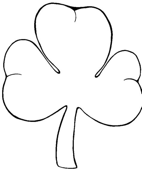 shamrock coloring pages shamrock printables coloring pages