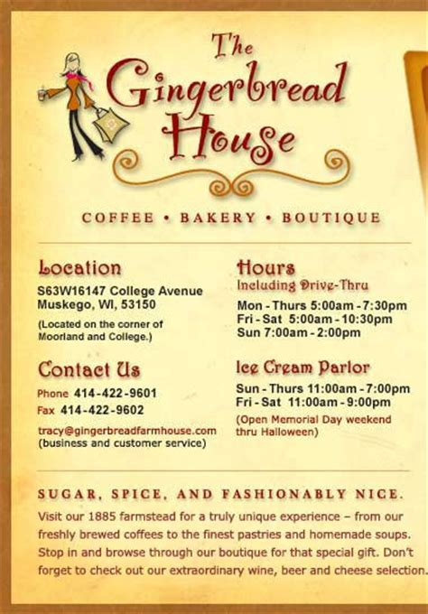 gingerbread house muskego the gingerbread house coffee sandwiches soups fresh