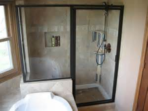 glass doors small bathroom: small bathroom showers descend stalls up on contrive