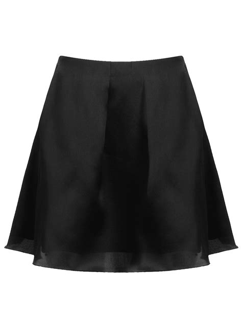 co black silk a line skirt in black lyst