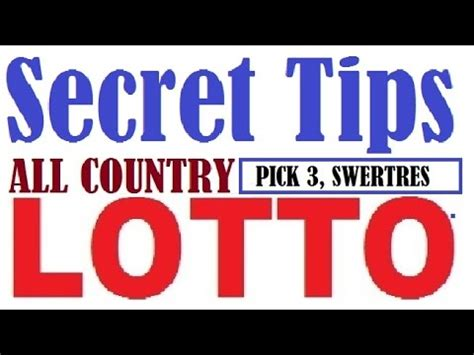 7 Tips On Winning The Lotto by How To Win Lottery 3 Swertres And 3 Digits Lotto