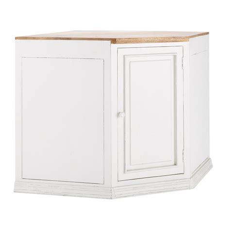 mueble bajo de cocina esquinero blanco de mango   cm
