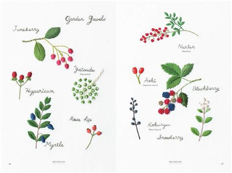 embroidered garden flowers botanical motifs for needle and thread make crafts books embroidered garden flowers