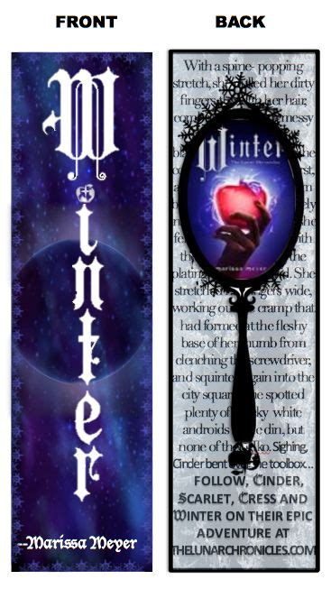 libro winter the lunar chronicles the lunar chronicles winter by marissa meyer bookmark design contest entry i can t wait until