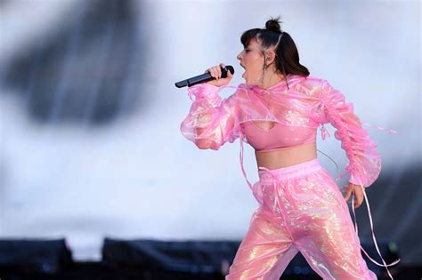 charli xcx on set during charli xcx performs onstage during the reputation stadion