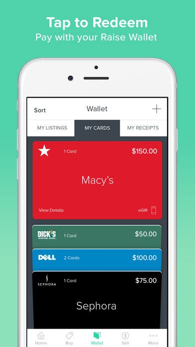 Raise Sell Gift Card - raise buy sell gift cards mobile wallet screenshot