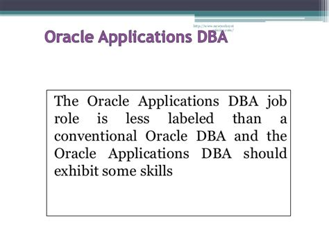 Oracle Dba Internship by Oracle Apps Dba Introduction Overview Session