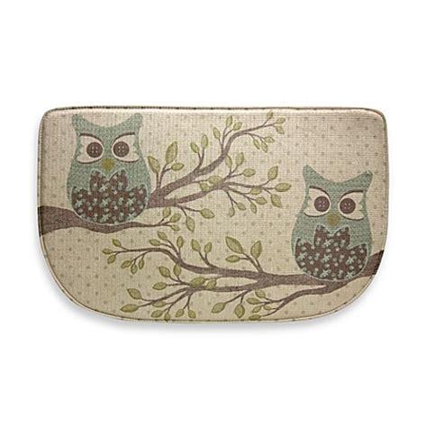 Owl Kitchen Rugs Bacova Owl Duet 18 Inch X 30 Inch Memory Foam Slice Rug Bed Bath Beyond