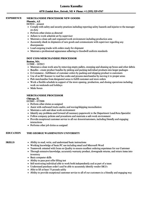 Merchandise Processor Sle Resume by Sle Loan Processor Resume Work Status Report Template