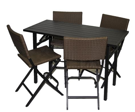 Bar Height Patio Set.Image Of Bar Height Patio Tables