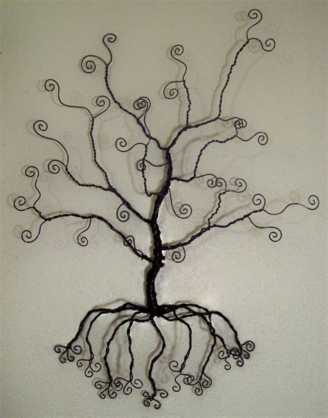 Tree Wall Hanging - wire tree wall hanging jewelry holder sculpture