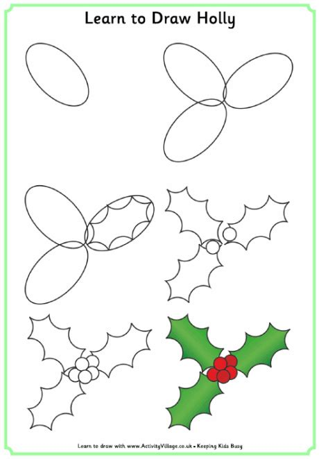 christmas pictures step by step learn to draw