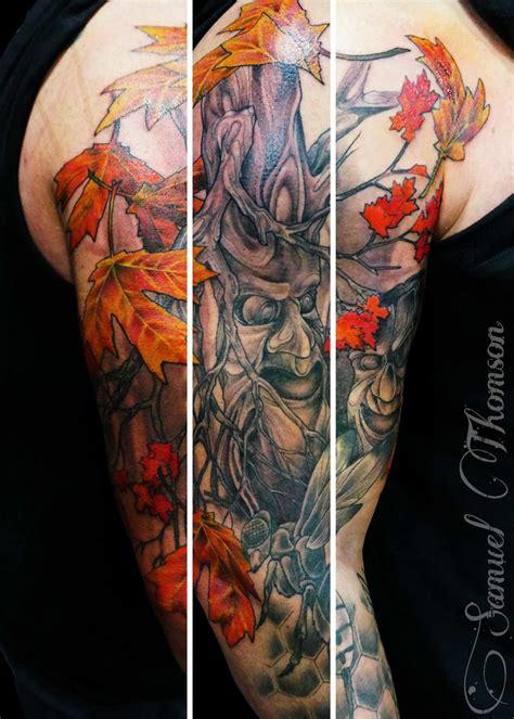 fall tattoo 40 colorful fall tattoos tattoodo