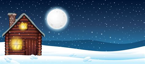 cabin   snow   vectors clipart graphics vector art