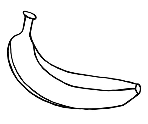 banana coloring page free coloring pages of outline of a banana