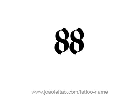 eighty eight 88 number tattoo designs page 3 of 4
