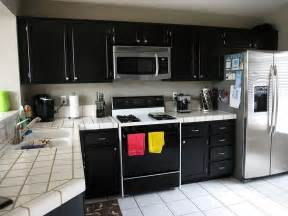 Kitchens With Black Cabinets Black Kitchen Cabinets With Any Type Of Decor Homefurniture Org