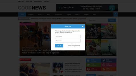 newspaper theme login good news newspaper magazine blog template by alia