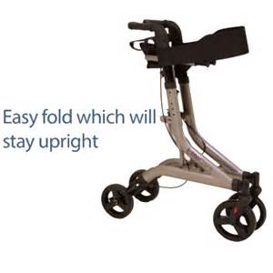 Folding 4 wheel rollator walking frame with seat and bag ebay