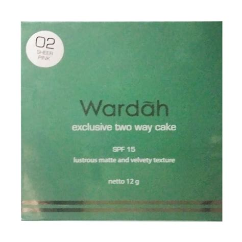 Harga Wardah Two Way Cake jual wardah exclusive two way cake bedak sheerpink
