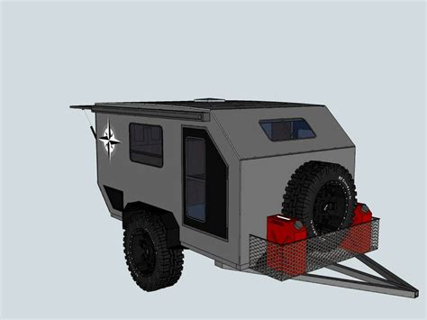 Blind Hiker Teardrop Offroad Trailer Prototype2 Avi Youtube
