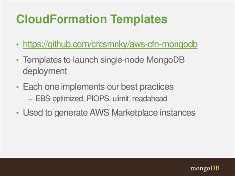 Mongodb And Aws Integrations Cloudformation Template Generator