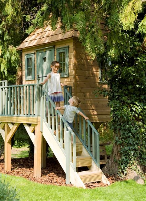 childrens garden tree house treehouses the playhouse