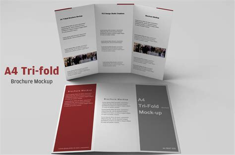 a4 tri fold brochure mockup product mockups on creative