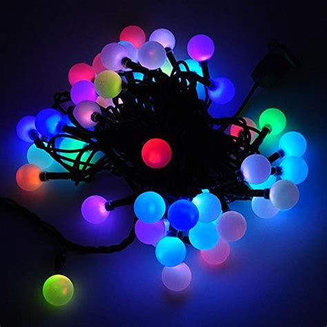 Dodolightness 50 Rgb Ball Led Color Changing With 16 Feet Color Changing String Lights