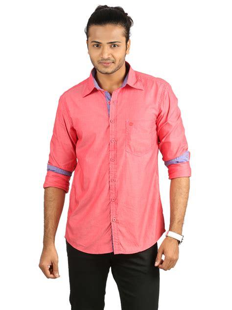 Flexi Plain Casual Shirt crosscreek sleeves plain casual shirt pink 680395 price buy crosscreek sleeves