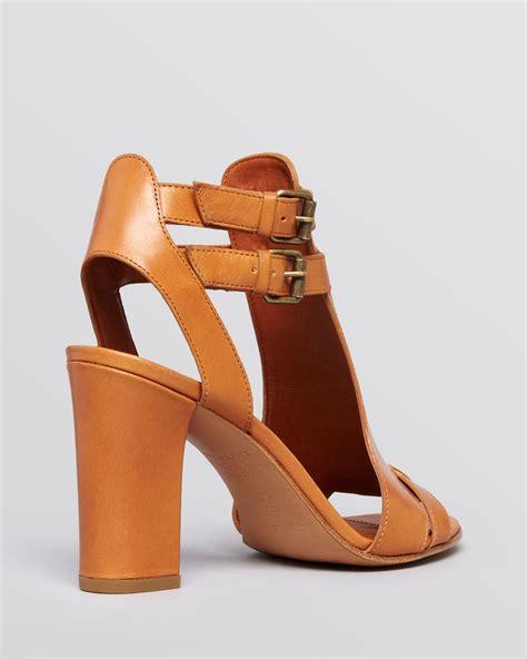 sandals heels via spiga sandals fola high heel in black lyst
