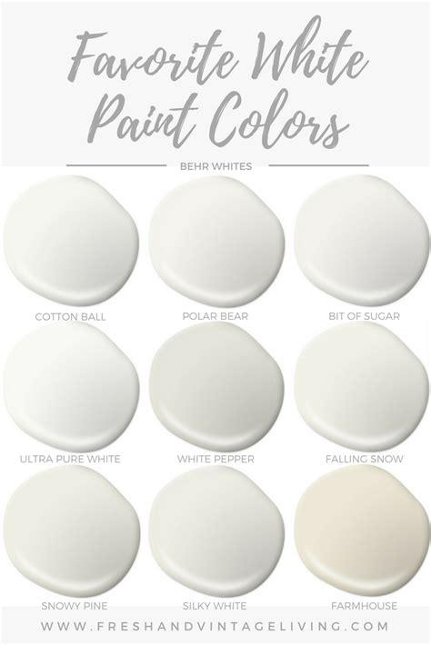 favorite white paint colors fresh vintage living