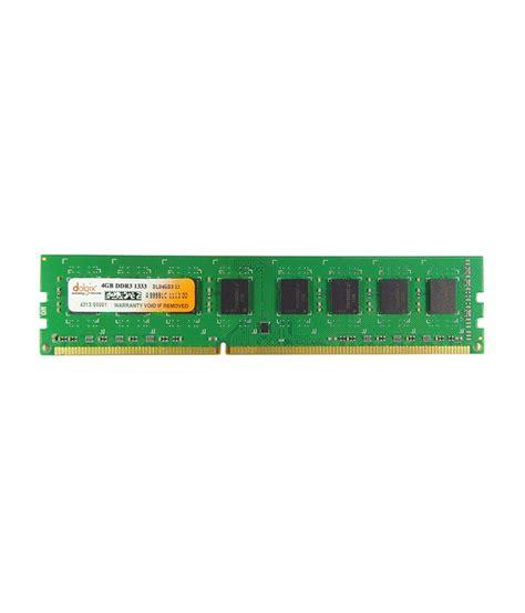 4gb ddr3 ram cost dolgix 4gb ddr3 1333mhz desktop ram 8 chip buy dolgix