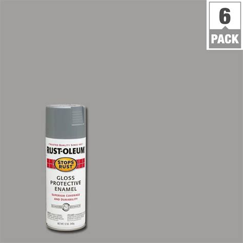 rust oleum stops rust 12 oz protective enamel gloss spray paint 7762830 the home