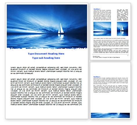 blue ocean word template 07283 poweredtemplate com