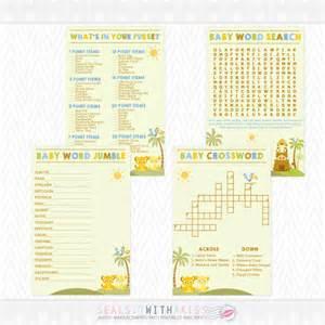 baby king baby shower bundle crossword word