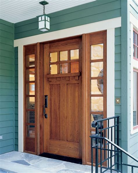 Door W Sidelites Craftsman Style Home Decor And More Craftsman Style Front Doors For Homes